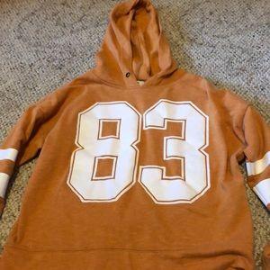 Burnt Orange hoodie pullover